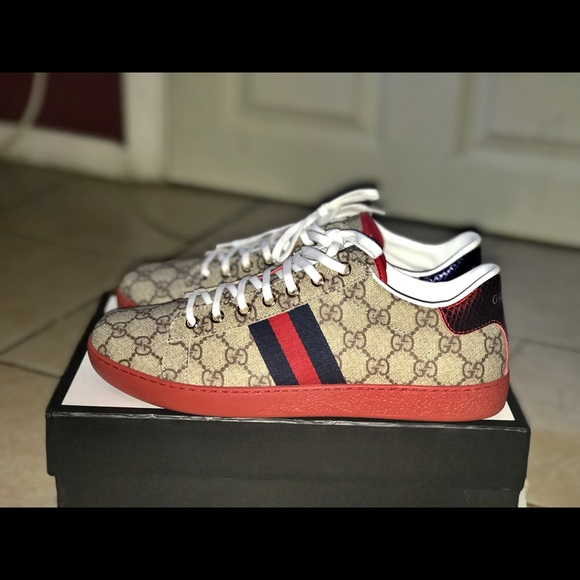wholesale the best promo code Gucci Ace GG Supreme Sneaker NWT
